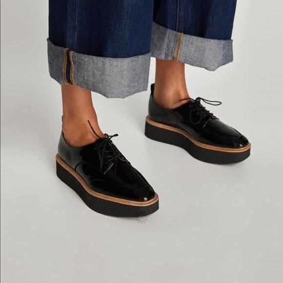 Zara Shoes | Zara Derby Platform Shoes